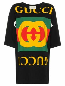 Gucci oversized logo print T-shirt - Black