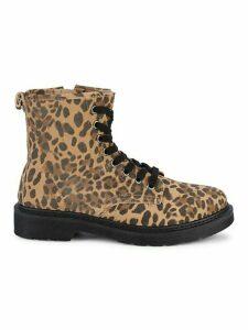 Flann Leopard-Print Suede Booties