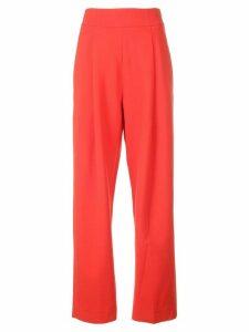 Oscar de la Renta straight leg trousers - Red