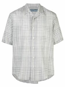 Jonathan Cohen check short-sleeve shirt - Grey