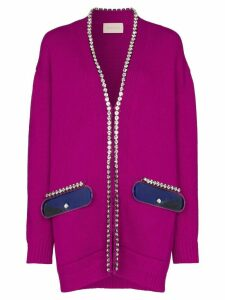 Christopher Kane embellished trim knit cardigan - PINK