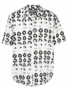 Jonathan Cohen floral short-sleeve shirt - White