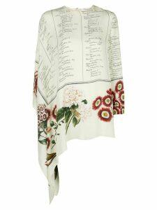 Oscar de la Renta Floral Calligraphy blouse - White