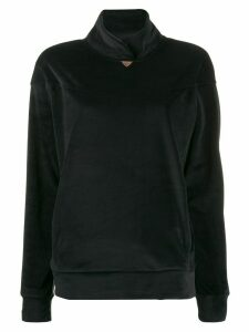 Emporio Armani velour jumper - Black
