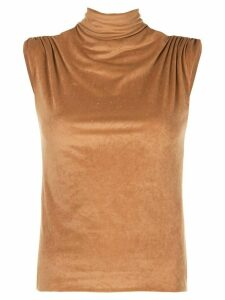 John Elliott turtleneck short sleeve top - Brown