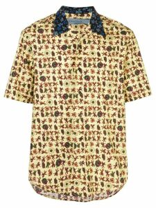 Jonathan Cohen floral short-sleeve shirt - Yellow