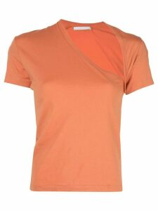 John Elliott asymmetric T-shirt - Orange