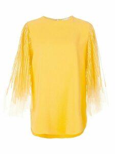 Oscar de la Renta flutter blouse - Yellow