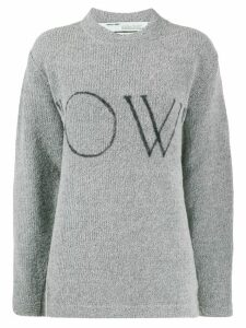 Off-White OW logo knitted jumper - Grey