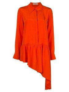 Tibi asymmetric ruffle shirt - ORANGE