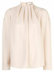 Tibi Esme high neck top - Brown