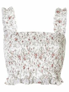 Sir. Haisley ruched crop top - White
