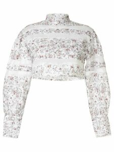 Sir. Haisley floral print cropped top - White
