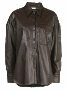 Tibi relaxed utility shirt - Brown