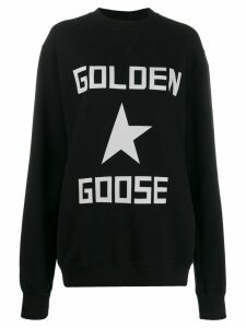 Golden Goose star logo sweatshirt - Black