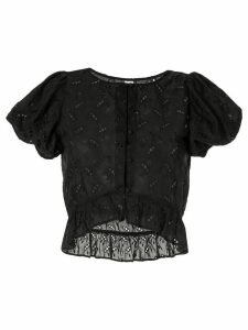 Sir. Elodie sheer blouse - Black