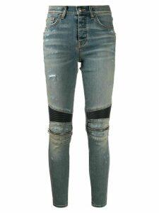 AMIRI skinny knee-zip jeans - Blue