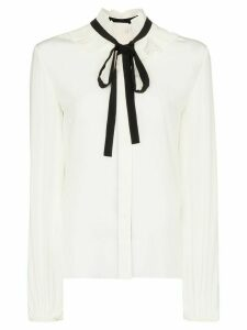 Chloé tie-neck silk blouse - White