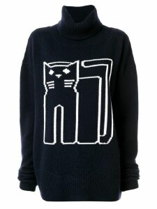 Markus Lupfer Cat turtleneck jumper - Blue