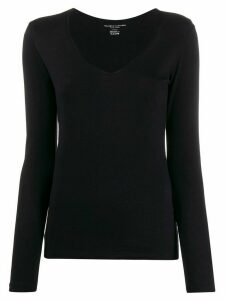 Majestic Filatures V-neck slim-fit jumper - Blue