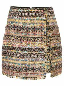 Paule Ka denim tweed mini skirt - Multicolour