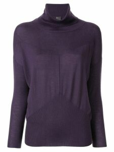 Lorena Antoniazzi rollneck cashmere sweater - Purple