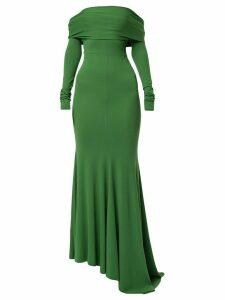 Alexandre Vauthier off shoulder long dress - Green
