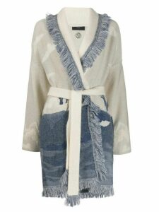 Alanui two tone cardigan - White