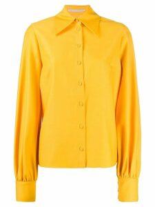 Emilia Wickstead bishop sleeve shirt - Yellow