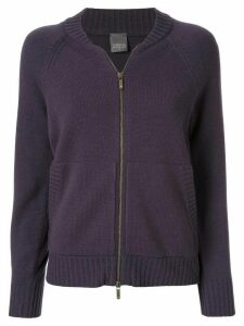 Lorena Antoniazzi star patch zip-up cardigan - PURPLE
