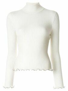 Alexander Wang bead trim sweater - White