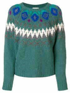 Forte Forte intarsia-knit jumper - Blue