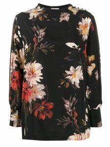 L'Autre Chose Garden-print blouse - Black