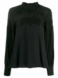 L'Autre Chose lace panel bohemian blouse - Black