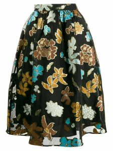 Stine Goya flower print skirt - Black