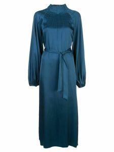 Rochas belted silk dress - Blue