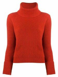 Alyki roll neck jumper - Red