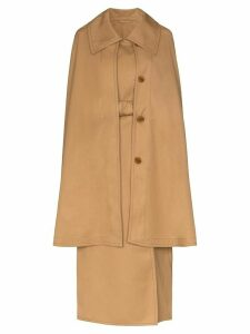 Lemaire cape belted trench coat - Brown