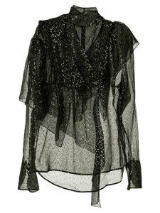 Petar Petrov Bobby asymmetric blouse - Black