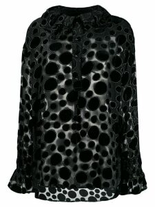 Stine Goya dotted-patches sheer blouse - Black