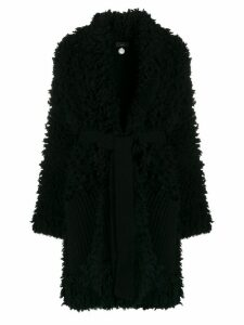 Alanui shaggy knit cardi-coat - Black