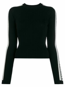 Fiorucci knitted ribbed logo jumper - Black