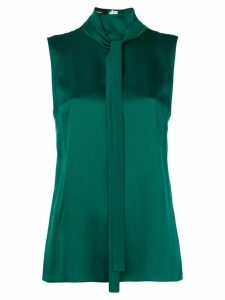 Rochas tie neck sleeveless blouse - Green