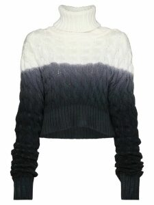 Matthew Adams Dolan cable knit turtleneck jumper - White