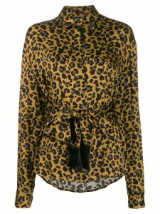 Marcelo Burlon County Of Milan LEOPARD SHIRT MULTICOLOR BLACK - Brown