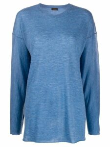 Joseph oversized crew neck jumper - Blue