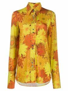 Ellery floral print shirt - ORANGE