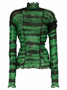 ASAI tie dye jersey top - Green