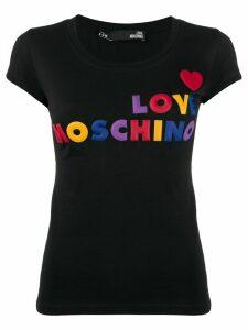 Love Moschino logo-appliqué T-shirt - Black