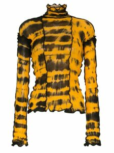 ASAI tie dye jersey top - Yellow
